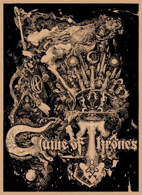San Diego Comic-Con 2012 Exclusive Game of Thrones Screen Print Series by Vania Zouravliov