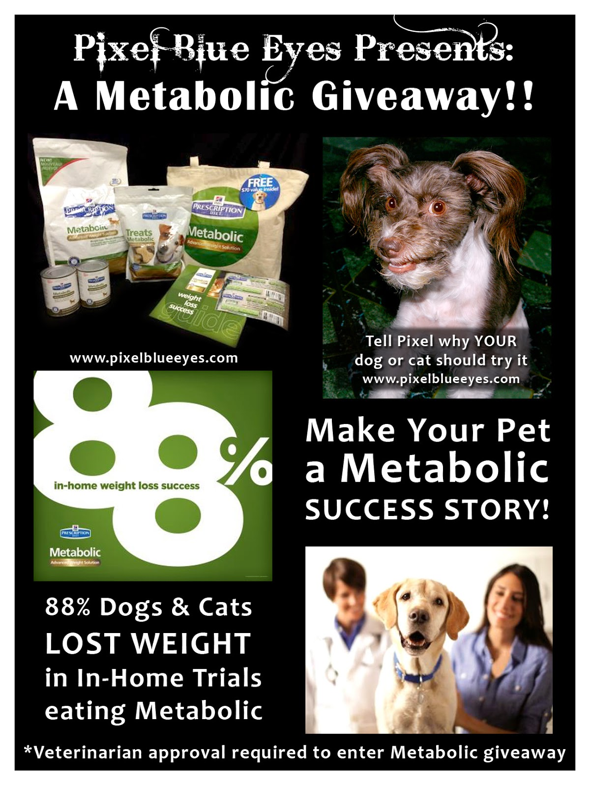 Pixel Blue Eyes is hosting a Giveaway Sponsored by Hill's Pet - Must get Vet approval to enter