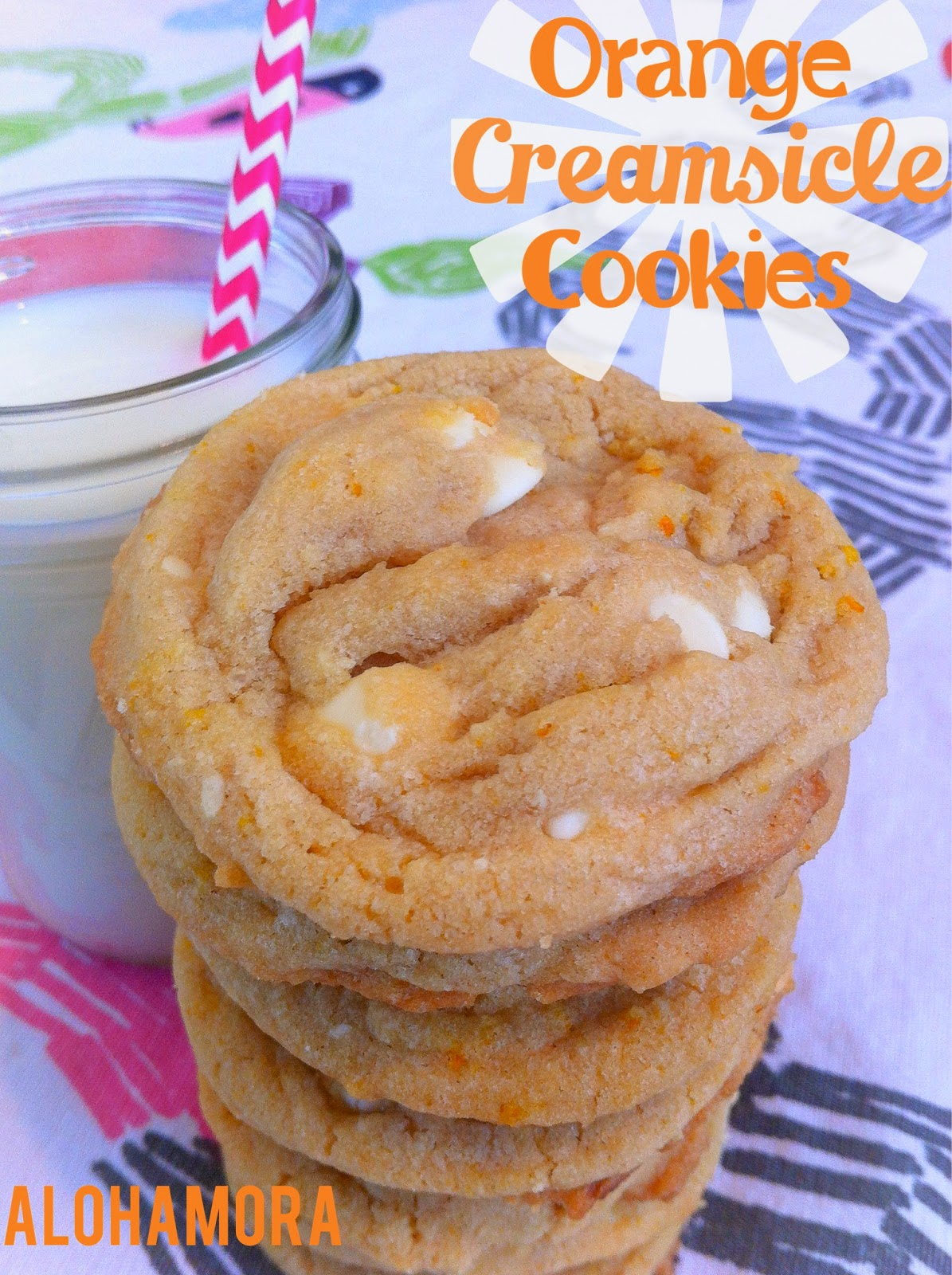 Orange Creamsicle Cookies taste like dreamsicle popsicles but they aren't cold.  You get the fresh flavor of orange with the creaminess of vanilla morsels.  Alohamora Open a Book http://alohamoraopenabook.blogspot.com/