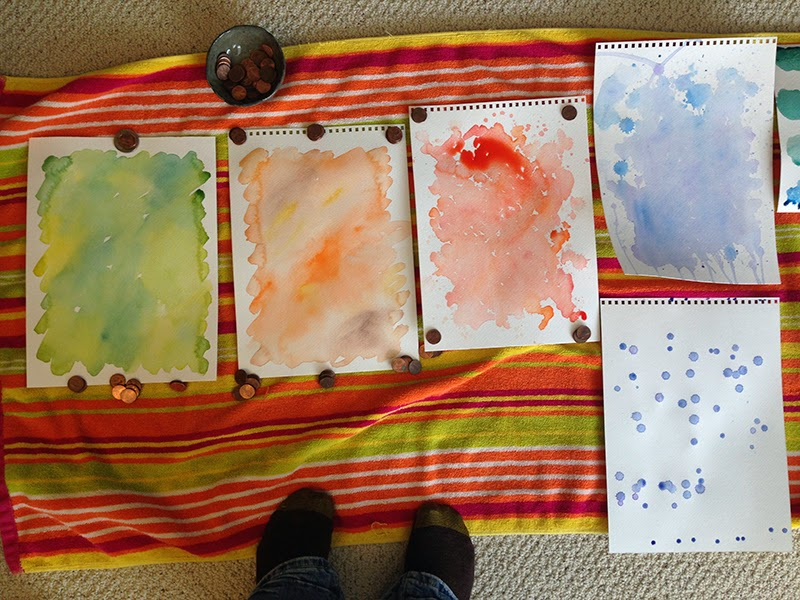 laying out to dry - Creating Watercolor for our Spring Catalog