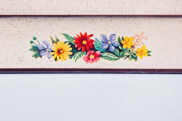 floral vintage tin