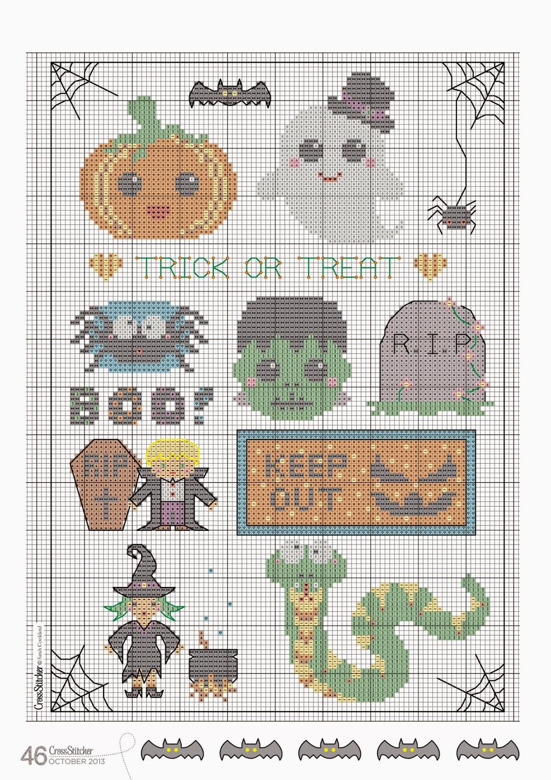 Halloween Tree Cross Stitch Pattern 93