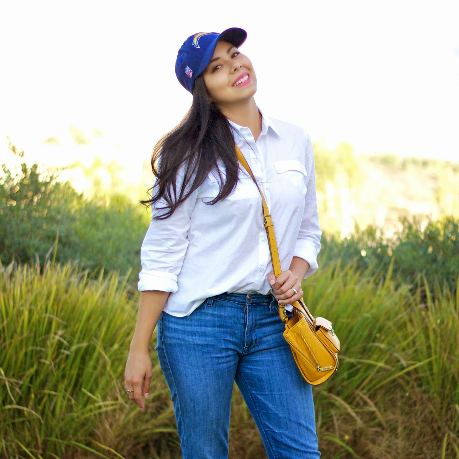 Go Chargers, san diego fashion blogger, san diego style, chargers style, yellow crossbody bag, 3.1 phillip lim yellow bag