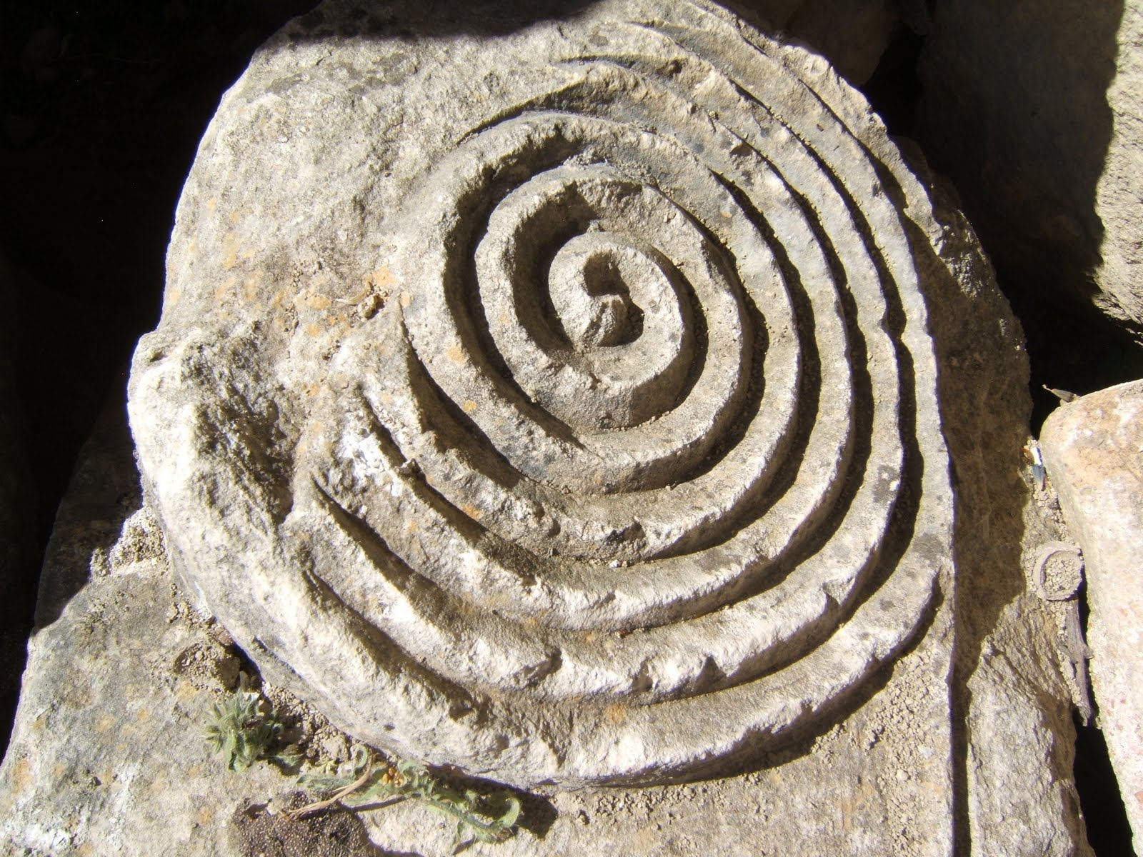 Stone spiral, from the Church of St. Nicholas, Demre, Turkey