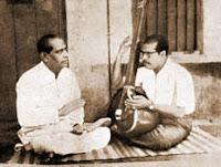 Manna Dey with his uncle K. C. Dey