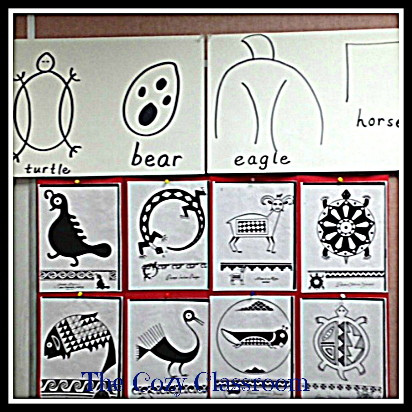 The cozy classroom family reading night they could then choose symbols to draw on their hides my wonderful fellow kindergarten teacher had tons of examples of native american symbols for the buycottarizona