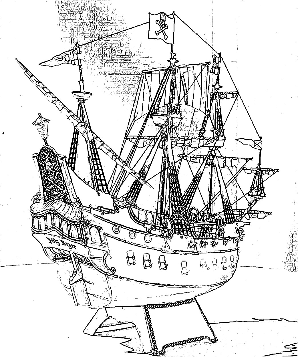 pirate ship coloring page revell pirate ship part 5