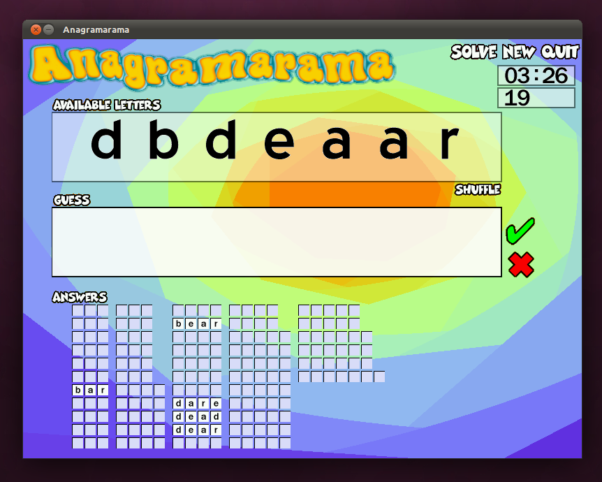 Anagramarama: Game permainan kata edukatif