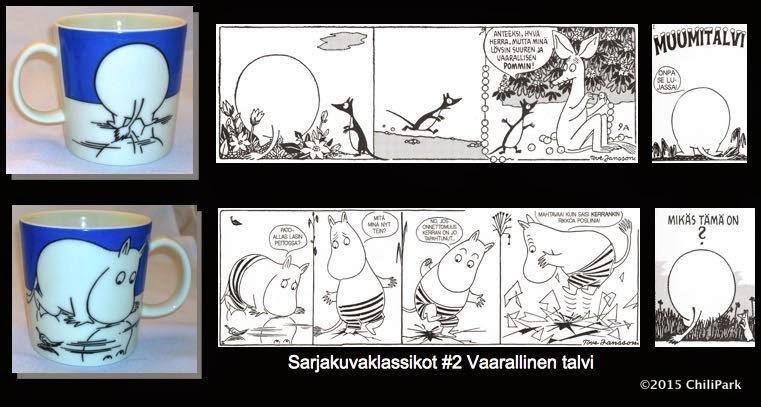 Moomin mug, Moomintroll on ice