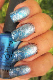 Blue Gradient Manicure - OPI I Don't Give a Rotterdam! I Sea You Wear OPI Sea You In Hollywood
