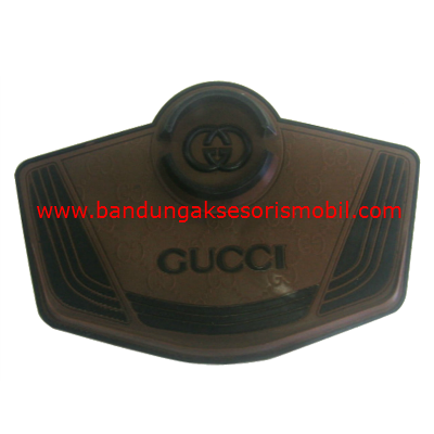 Dash Mat Gucci + Jepitan HP Coklat - Hitam Japan