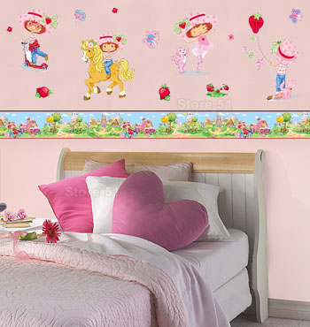 DORMITORIO TARTA DE FRESAS STRAWBERRY SHORTCAKE BEDROOM via www.dormitorios.blogspot.com