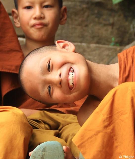 Moine d'Ubon à Nong Khai