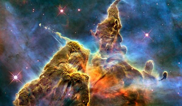 Las Montañas Misticas tomada por el Hubble