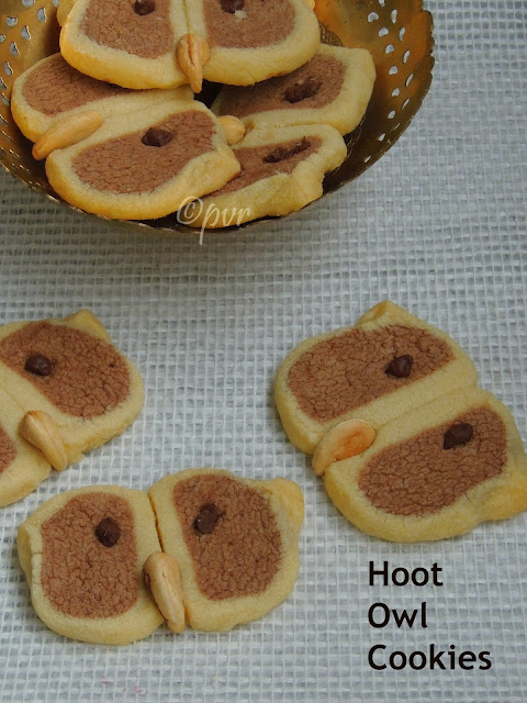 Eggless Hoot owl cookies