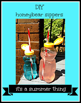what to do with empty honey bears, diy honeybear ideas, honey bear cups, honeybear straw, cocktail cup idea