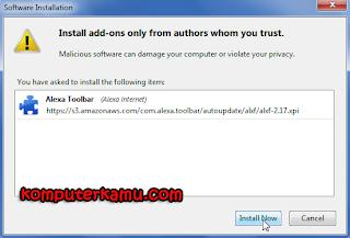 install now untuk alexa toolbar
