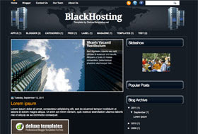Black Hosting Blogger Template
