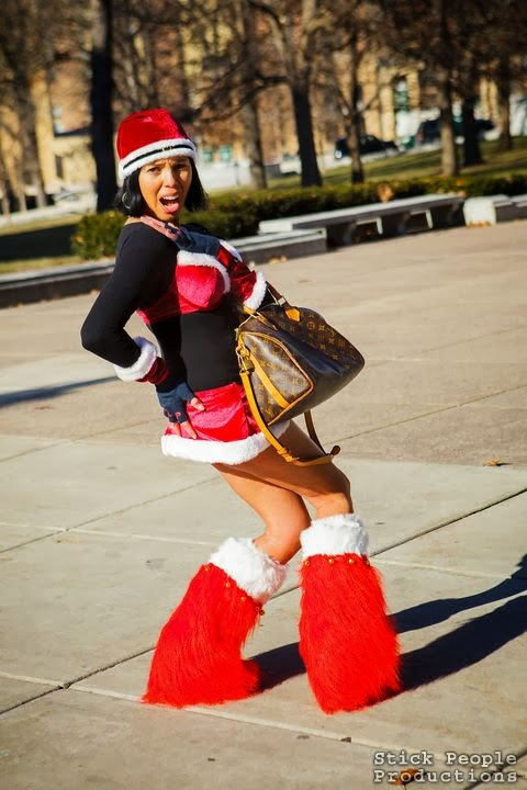 Madison WI Santa Swimsuit Run (c) Kelly Doering, photography
