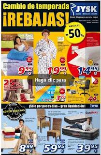 catalogo de rebajas jysk 11-2-2013