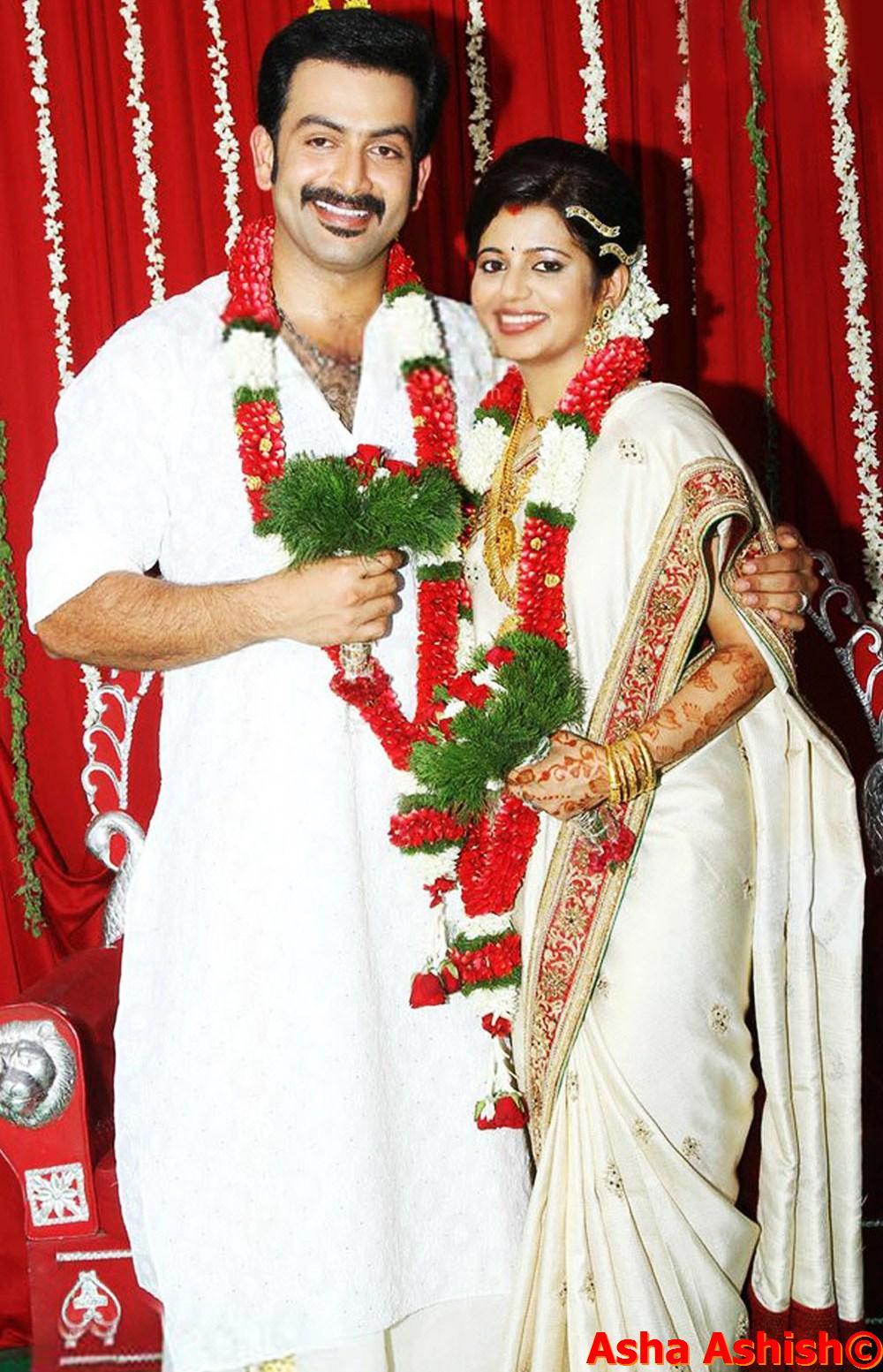 Malayalam actor prithviraj marriage photos