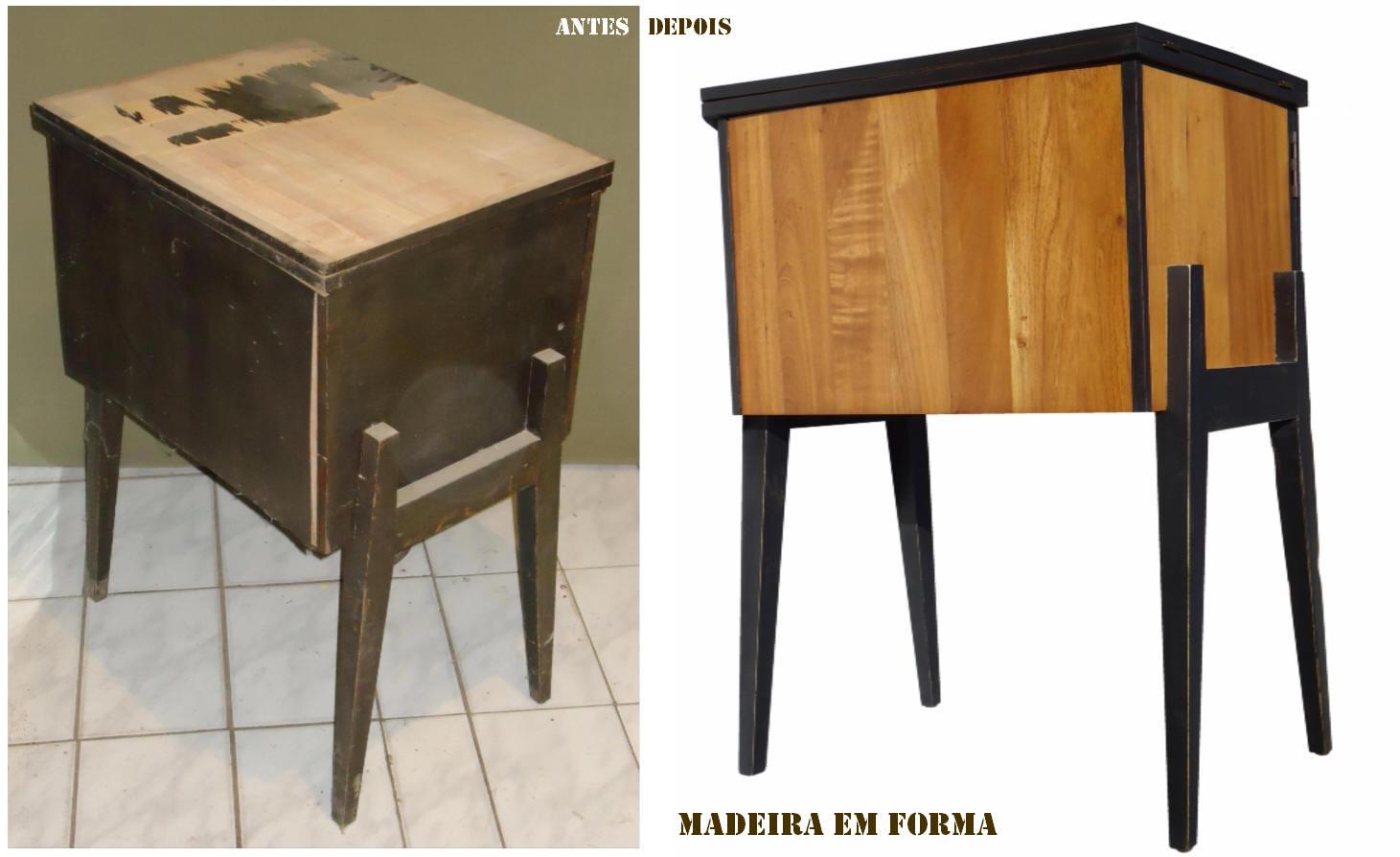 Restauração de Móveis de Época : Gabinete de máquina de costura  #9A6931 1461x894