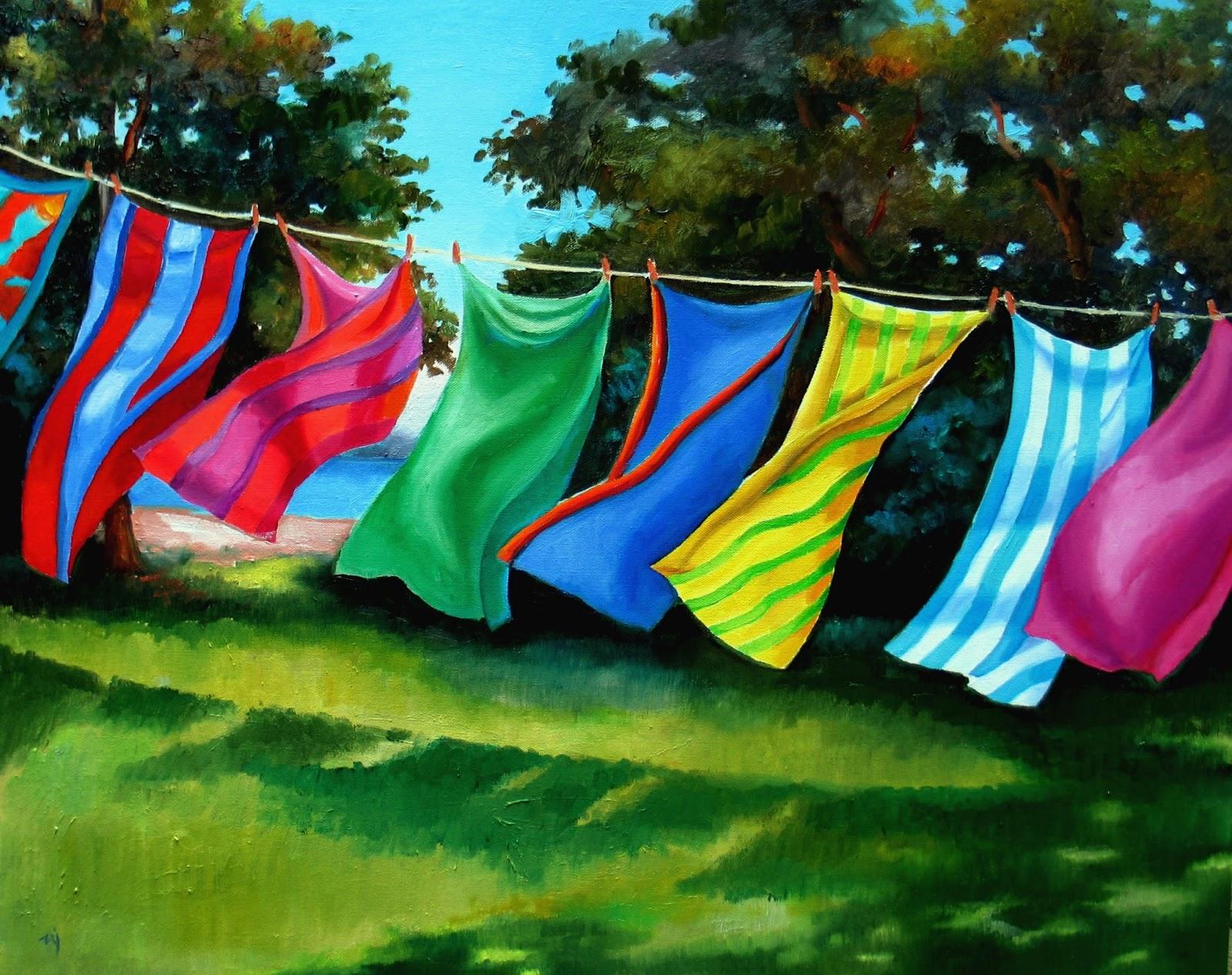hanging beach towel. Dancing Beach Towels - SOLD Hanging Towel A