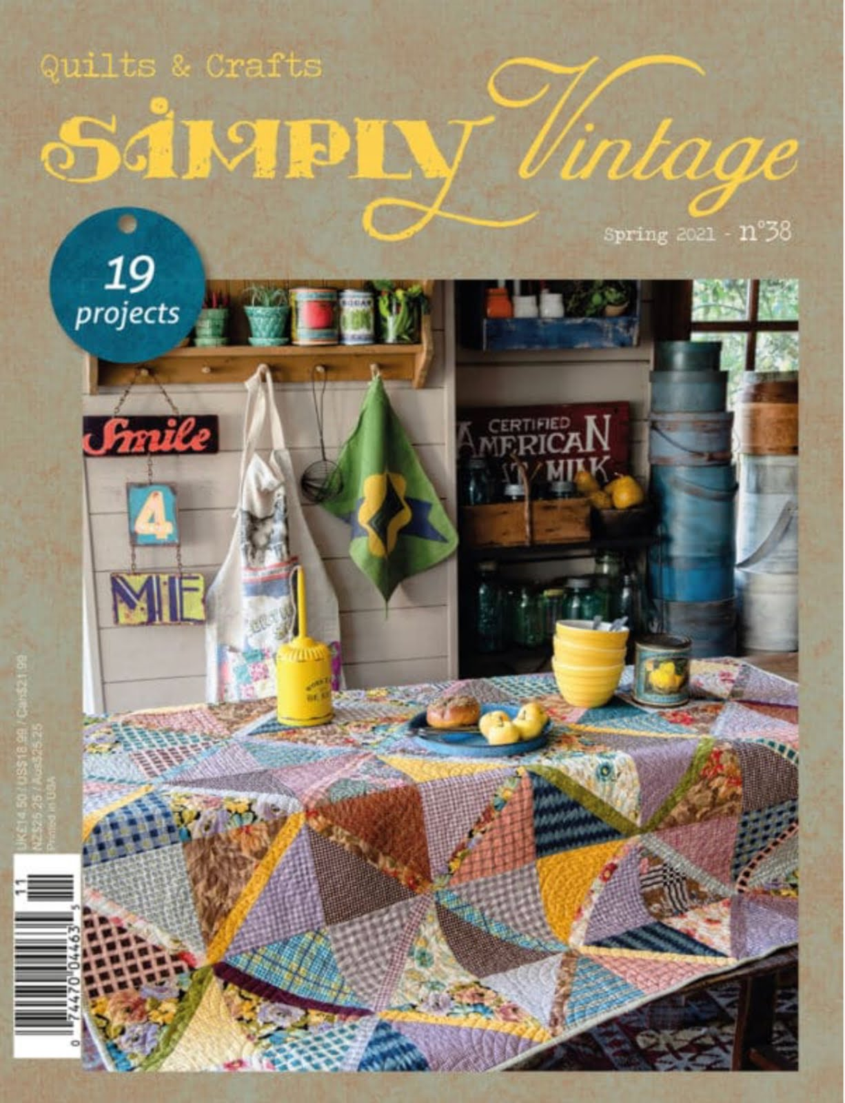 Quiltmania Simply Vintage Spring 2021