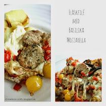 Fläskfilé med basilika och mozzarella