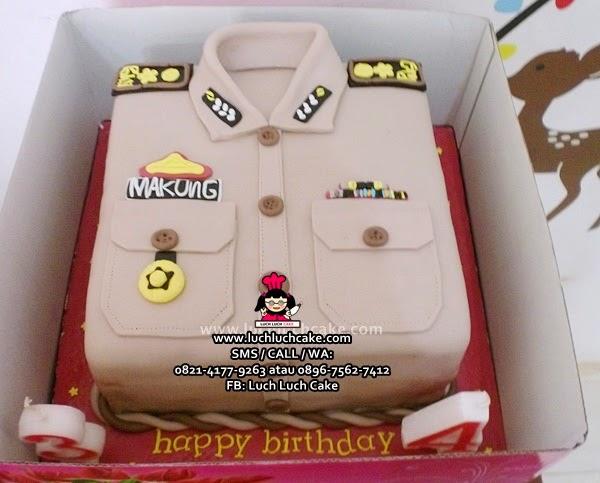 Kue tart Baju Polisi Daerah Surabaya - Sidoarjo