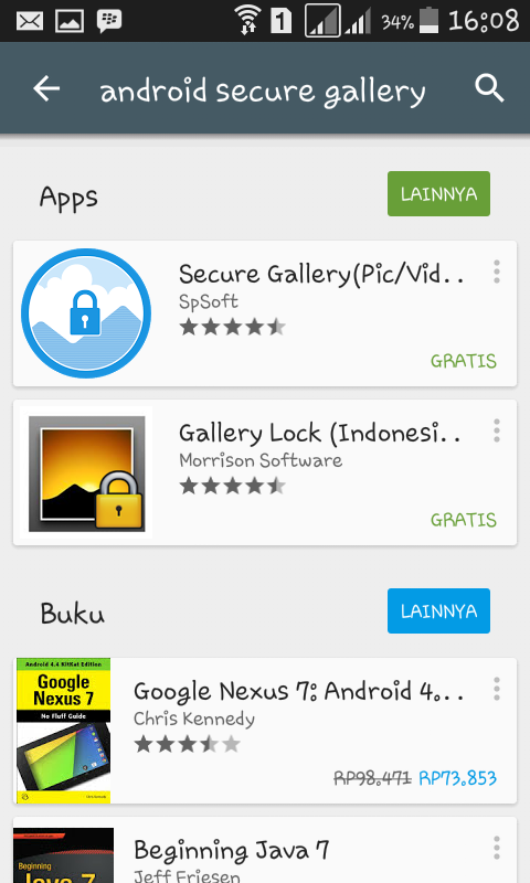 Cara Memberikan Password Foto dan Video Android