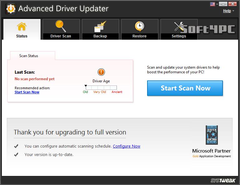 Advanced Driver Updater 2.7.1086.16665