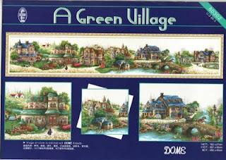 "Артикул: 80302 Наименование: Набор для вышивки крестом DOME  ""Зеленая деревенька "" Производитель: DOME (Корея) Техника..."