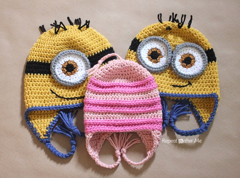 Crochet Hat Pattern Minion : Repeat Crafter Me: Crochet Edith Inspired Hat Pattern