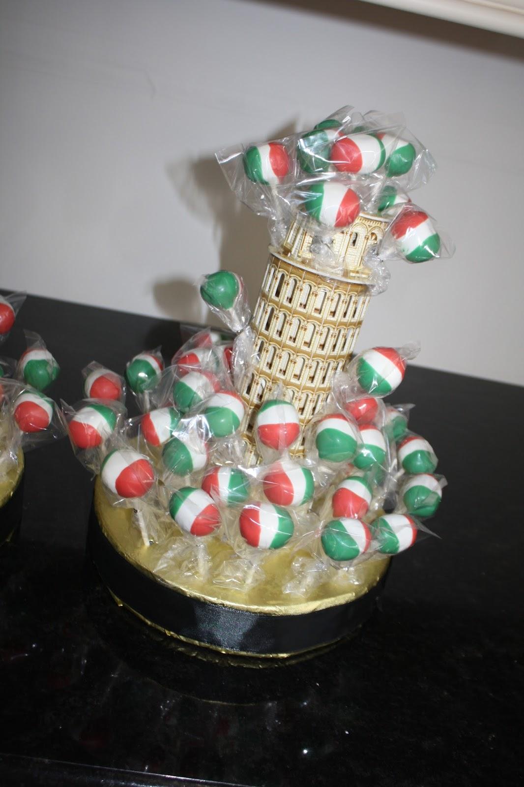 Italian Flag Cake Pops