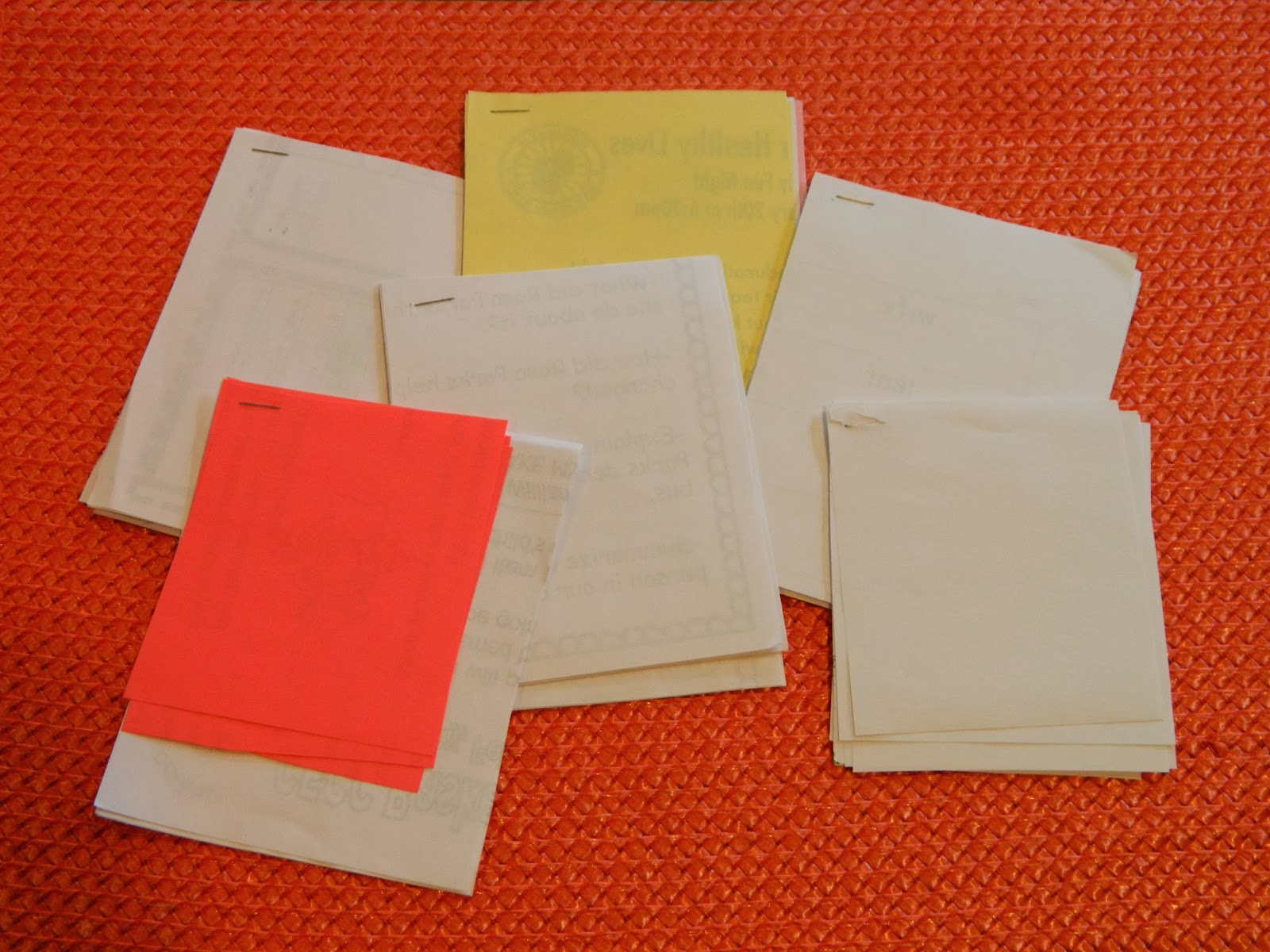 make your own note tablets, paper clutter, reuse paper