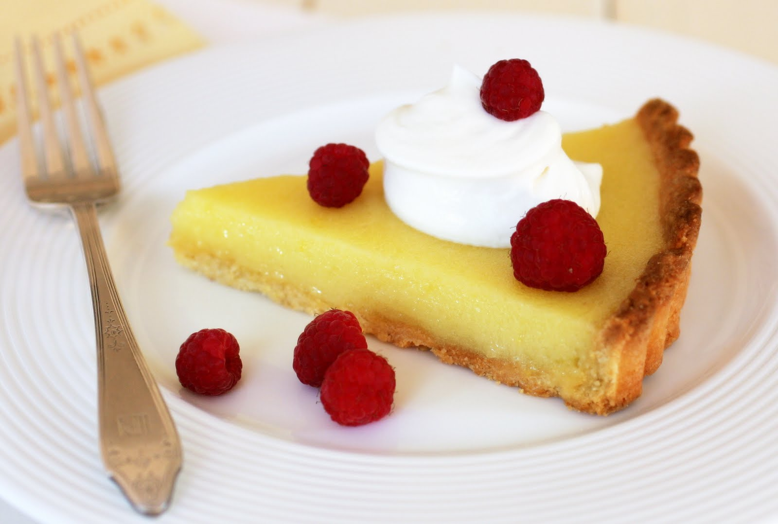 Lemon Tart in a Cornmeal Crust with Mascarpone Cream and Fresh ...