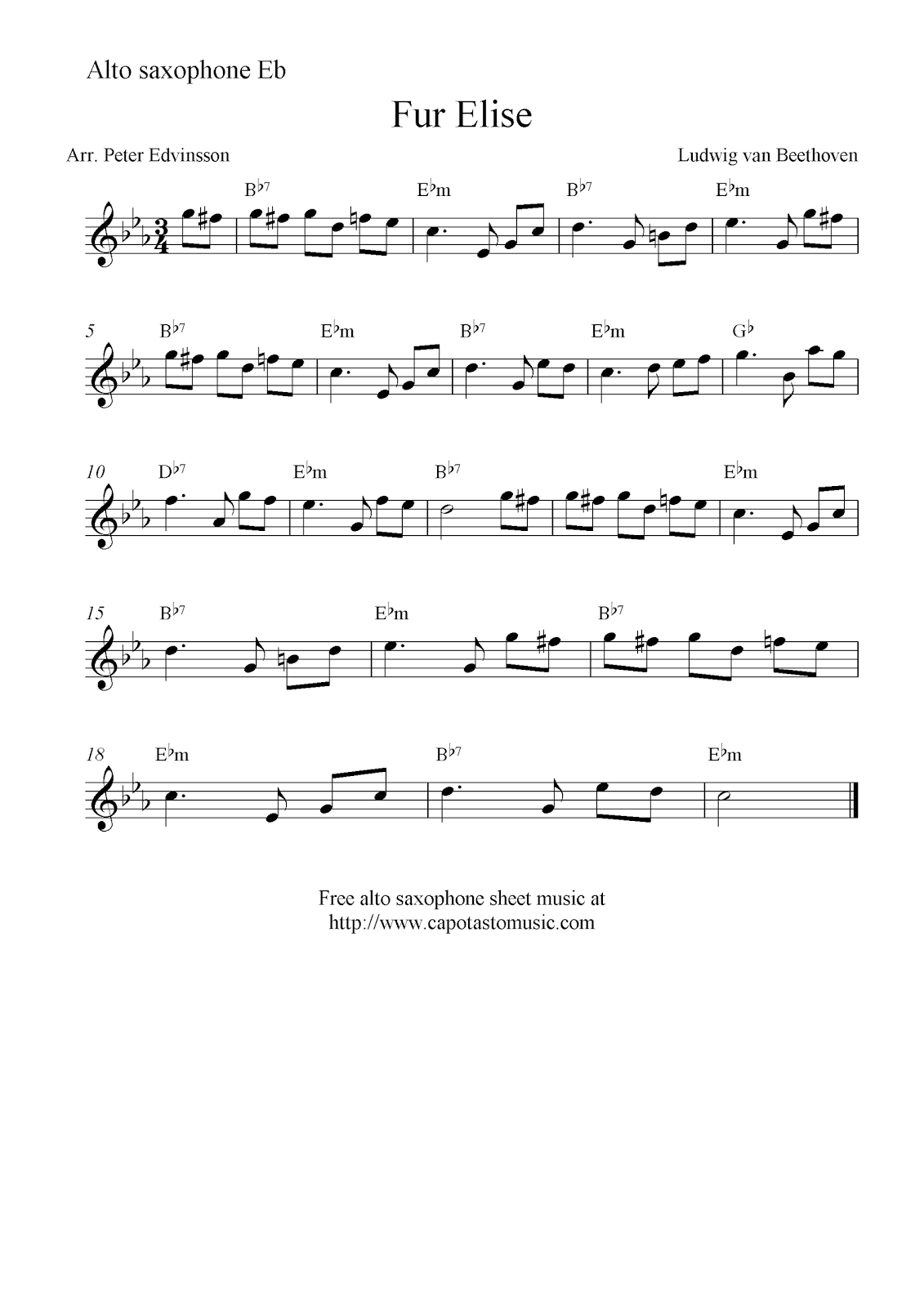 Nifty image inside free printable alto saxophone sheet music