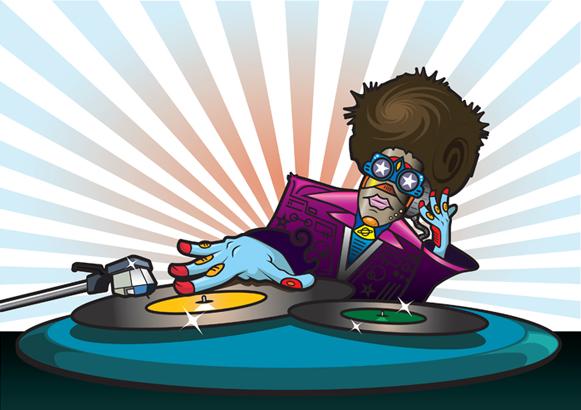 DJ Turntable Art