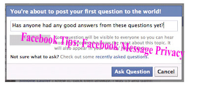 Facebook Tips: Facebook Message Privacy