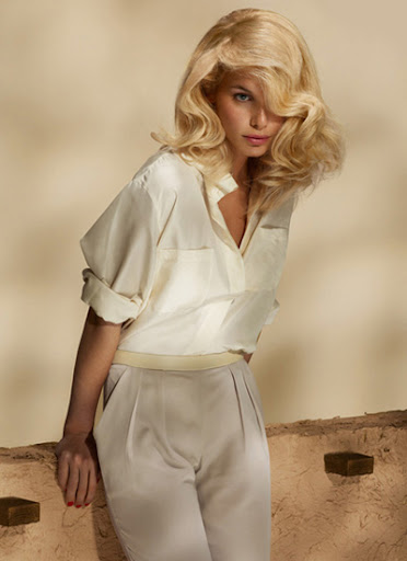 Секси прическа за средно дълга коса от DESSANGE пролет-лято 2012