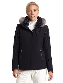 Spyder Women Diamond with Real Fur Trim Jacket