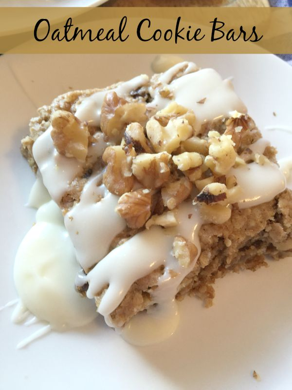 oatmeal cookie bars with frosting
