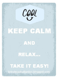 "Cool banner ""Keep Calm and Relax... Take It Easy!"""