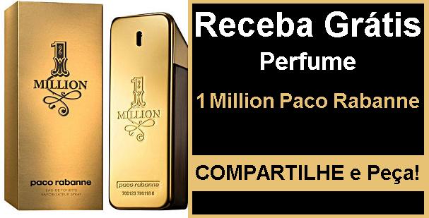 Receba em casa um Perfume 1 Million Paco Rabanne Grátis