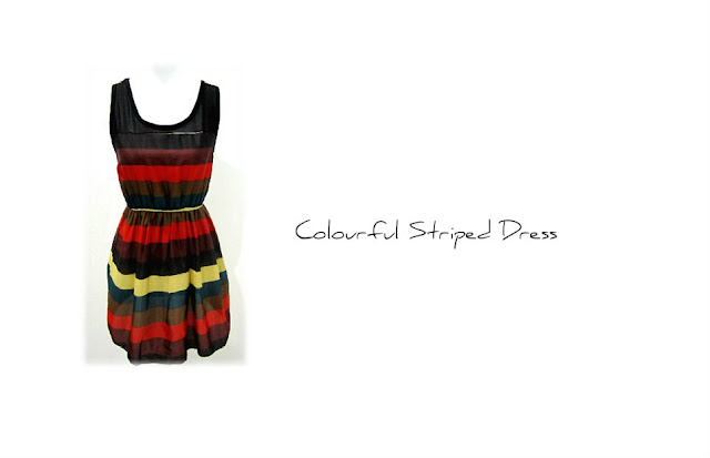 Colourful Striped Dress
