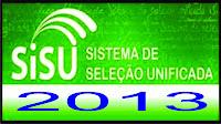 Inscrições para o sisu 2013