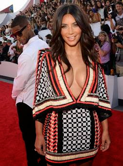 Usher 'caught' checking out Kim Kardashian's behind on red carpet