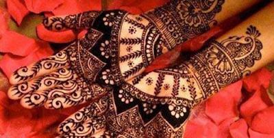 Arabic Henna Design For Teej
