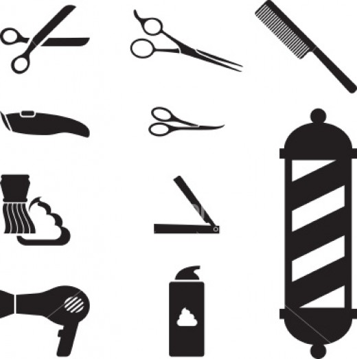 Barber Vector : Barber Girl Photos: Barber Electric Razor